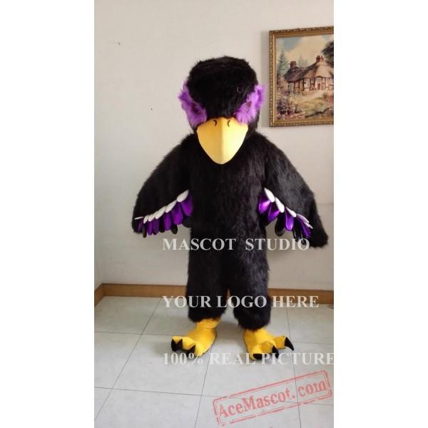 Black Eagle Mascot Hawk / Falcon Mascot Costume