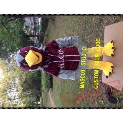 Red Falcon Mascot Costume Hawk / Eagle Mascot Costume