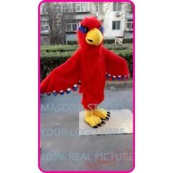 Plush Red Hawk / Eagle / Falcon Mascot Costume