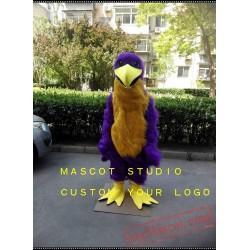 Purple Eagle Mascot Costume Hawk / Falcon