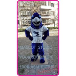 Blue Plush Eagle / Falcon / Hawk Mascot Costume