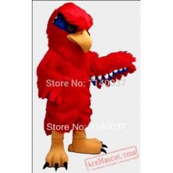 Plush Red Hawk Mascot Costume Eagle / Falcon
