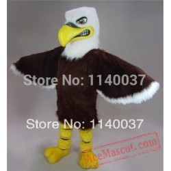 Mascot Brown Fierce Eagle Mascot Costume