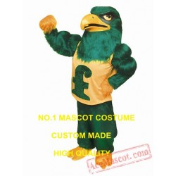 High Quality Long Plush Green Falcon Eagle Mascot Costume