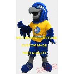 Sport Blue Eagle Hawk Mascot Costume