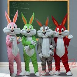 Bugs Bunny Rabbit Adult Cartoon Mascot Costume