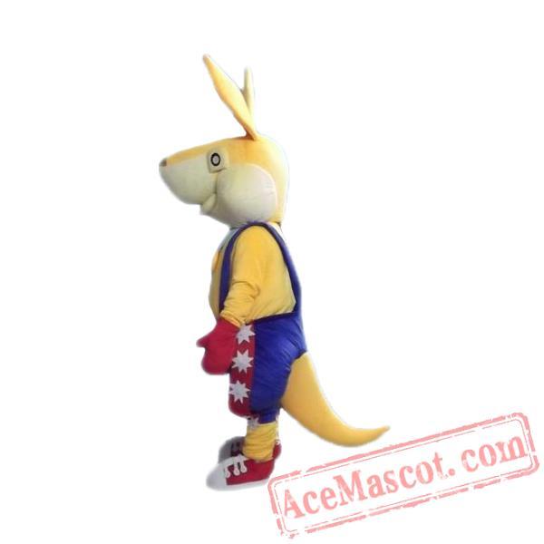 Yellow Rabbit Mascot Costume