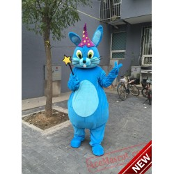 Blue Magic  Rabbit  Mascot Costume