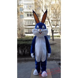 Blue Rabbit Bunny Mascot Costume
