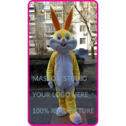 Easter Yellow Rabbit Bunny Mascot Costume