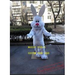 Easter Rabbit Mascot Costume White Bunny Bug Mascot