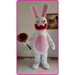 White  Rabbit Mascot Costume