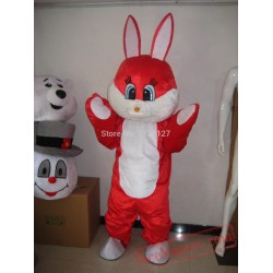 Easter Red Rabbit Bunny Mascot Costume