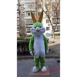 Green Rabbit Bunny Mascot Costume