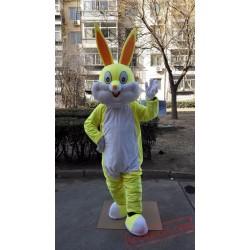 Yellow Rabbit Bunny Mascot Costume