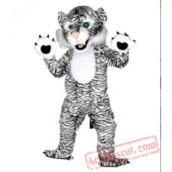 Black and White Tiger Mascot Costumes for Adults