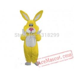 Easter Rabbit Bunny Mascot Costume Yellow Rabbit