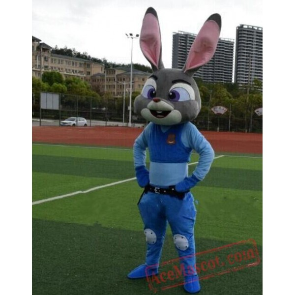 Zootopia Judy Hopps Mascot Costume Rabbit Mascot