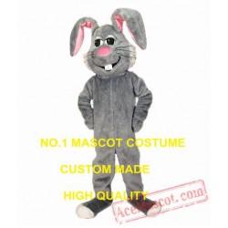 Grey Bunny Mascot Costume