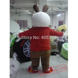 Brown Ear Bunny Mascot Costumes