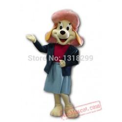 Pink Hat Fifi Dog Mascot Costume