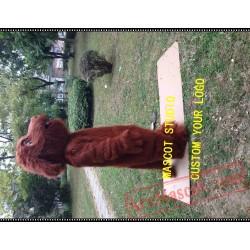 Brown Plush Dog Mascot Costume
