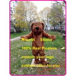 Plush Dog Mascot Costume