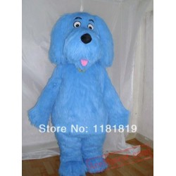 Blue Plush Dog Mascot Costume