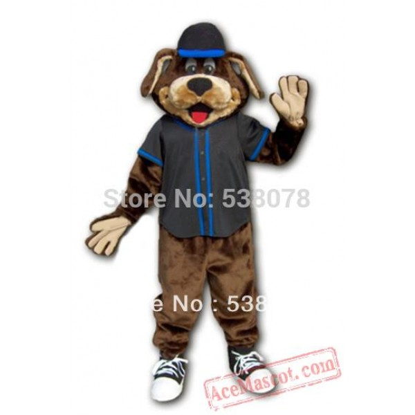 Dark Brown Dog Puppy Mascot Costume