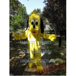 Yellow Pluto Mascot Costume Yellow Dog