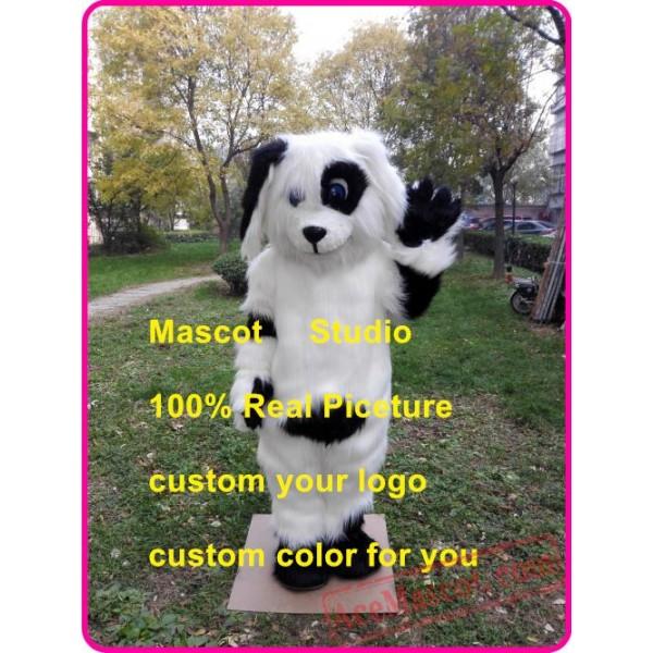 Black & White Spot Dog Mascot Costume