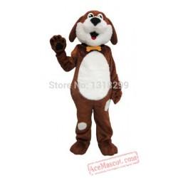 Buddy White & Brown Dog Mascot Costume