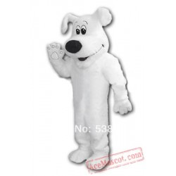 Big White Dog Adult Mascot Costume