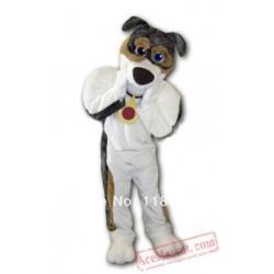 Grey Dog Skeeter Mascot Costume
