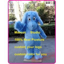Plush Blue Dog Mascot Costume