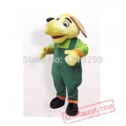 Trousers Yellow Dog Mascot Costume
