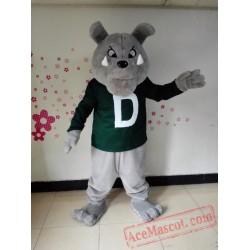 Grey Bulldog Mascot Costume