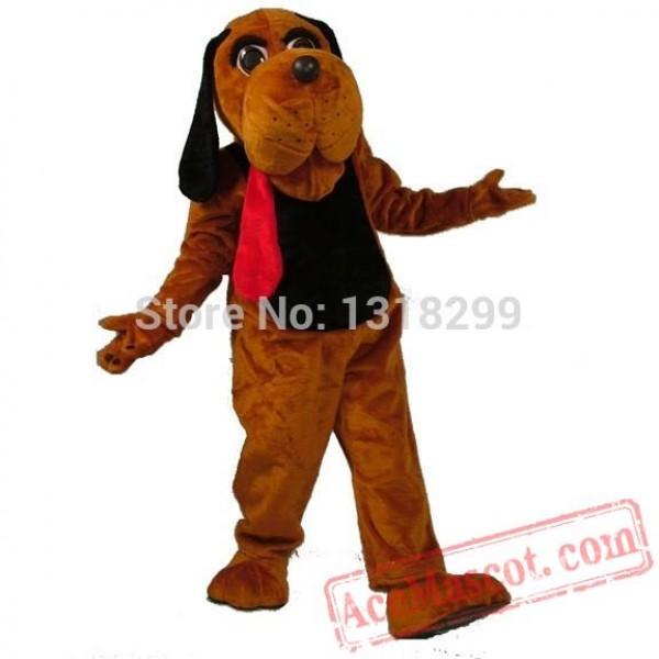 Dark Brown Hound Dog Mascot Costume
