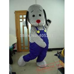 Grey Dog Mascot Costumes Blue Pants