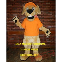 Yellow Retriever Mascot Costume Puppy Dog