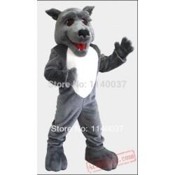 Wolf Hound Dog Mascot Costume
