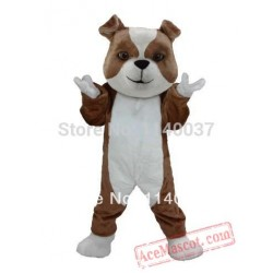 Brown & White Bulldog Mascot Costume
