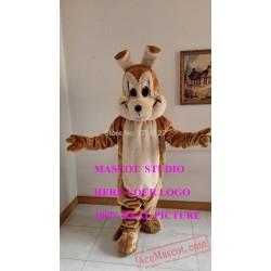 Brown Wolf Mascot Costume