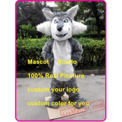 Big Grey Wolf Mascot Costume