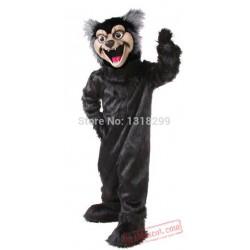 Huge Black Wolf Mascot Costume