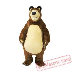 Big Bear Ursa Grizzly Mascot Costume
