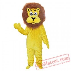 Plush Lion Mascot Costume Adult