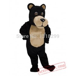 Black & Tan Bear Mascot Costume