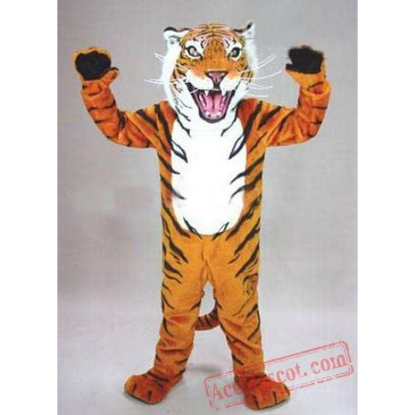 Adult High Quality Bengal Tiger Mascot Costume