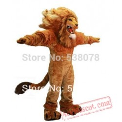 Fire Lion Mascot Costume